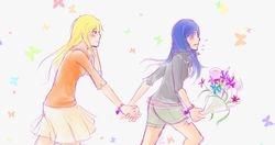 Shizuru and Natsuki Run