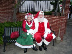 Santa & Mrs. Claus sitting for a photo session