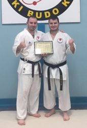 Richy with Sensei with certificate!