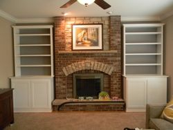 FIREPLACE AFTER WITH CUSTOM BUILT-INS