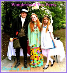 Mad Hatter, Queen Wisteria and Alice
