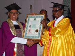 COIMBATORE CONVENTION& CONVOCATION;Dr.MADHU KRISHAN CONFERRED DOCTORATE DEGREE TO Rev.ISSAC ,THE FOUNDER OF ER AC