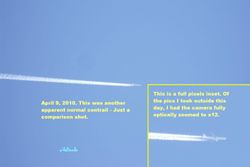 Another typical contrail