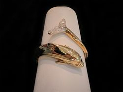 Diamond dolphin wrap ring