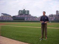 Singing National Anthem - Cubs
