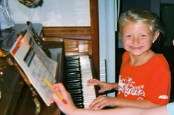 Ella at the piano  - 2008