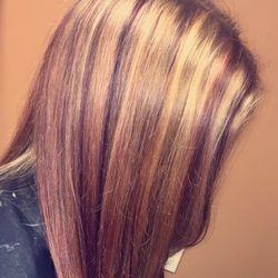 Purple & Blonde traditional foil