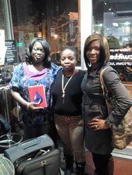 Patricia and Courtney at booksigning in Harlem NY