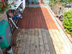 First coat of stain/anti-slip coating