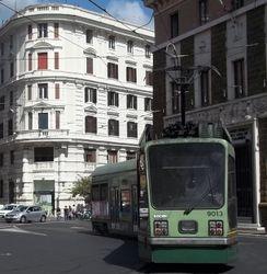 Socimi #9013 departing Piazza del Risorgimento.