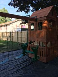 backyard discovery Pacific View swing set assembly in rockville maryland