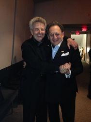 "After the performnace of Alexander Brott's ""Speheres in Orbit"" - Alexis with Boris Brott, April 2015"