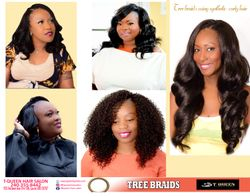Tqueen Tree Braids using Synthetic Curly Hair
