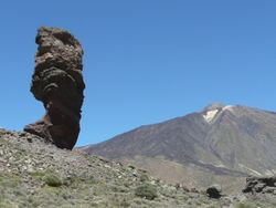 Most visited rock and Pico del Teide