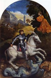 Bordone, St George and the Dragon, Vatican