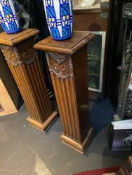 Pair of Belgian art deco columns