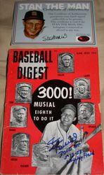 Stan Musial Baseball Digest June 1958 Autographed 3000 Hits
