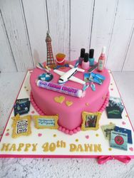 Personalised 40th Birthday Cake