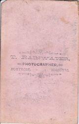 T. Rainwater, photographer of Montrose, MO - back