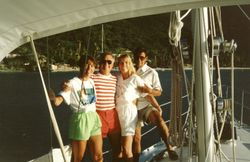 Tortola BVI Deidre, Melanie & Tom