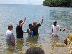 Baptizing converts