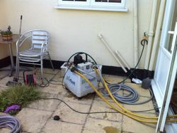 Our 'Norstrom' unit during the powerflushing process.