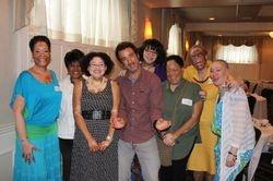 The ladies surrounding Chris