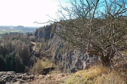 top of Llanymynech Rock