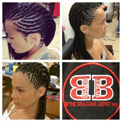 Natural Side Braids by Bee