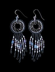 Beaded Dreamcatcher Earrings small