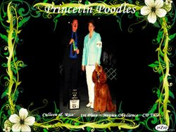 """Culleen & """"Rico Suavae"""" took 1st. place in Obedience"""