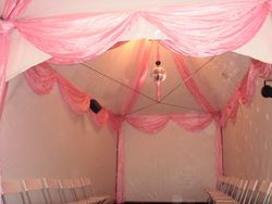 3x9m with pink drapes
