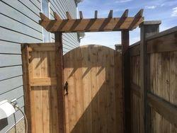 cedar gate with header