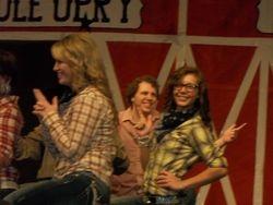 Maile, Owen & Kaitee dancing to Cotton Eyed Joe