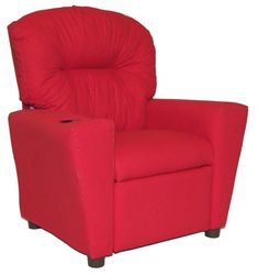 #401C Child Recliner  - Solid Red cotton