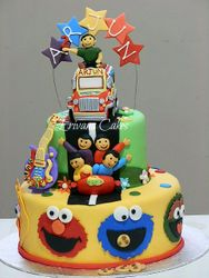 Sesame street , wiggles, wiggles guitar and jeepney cake