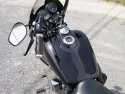 Harley Davidson dash processed in carbon fiber