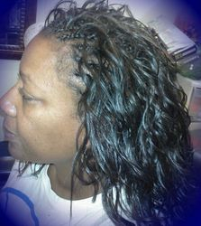 One layer Cornrowed TreeBraids w/synthetic hair
