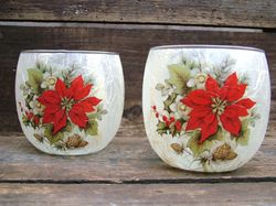 Traditional Poinsettia (only available in large tealight holder)
