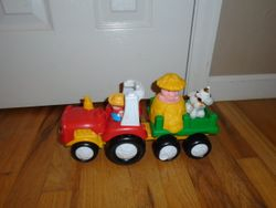 Fisher Price Little People Tow 'n Pull Tractor - $12