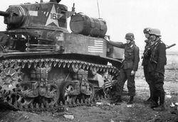 M3A1 Stuart in Tunisia.
