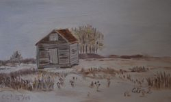 Near Vermilion, AB (oil on canvas)