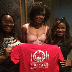 Demetria McKinney filmed a PSA as an Ambassador for Hosea Feed The Hungry Campaign - September 22, 2014