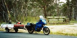 Tom's K75RT & Camper Trailer at Oxley Wild Rivers Area - Dec 1994