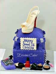Louboutin shoe on pillow cake