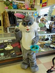 The Easter Bunny visits Racine's Value Village