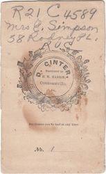Mrs. E. Simpson of Conneautville, PA