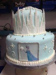 Elsa's Icy Palace Cake