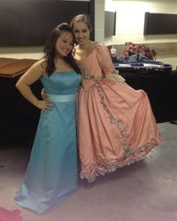 Backstage of the Lully concert with a beautiful dancer and friend, Liara Lovett