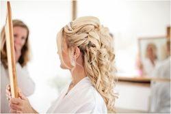 Gorgeous Half Up Down curls was chosen by Elle